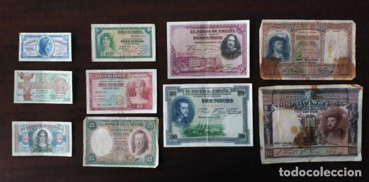 LOTE BILLETES ÉPOCA ALFONSO XIII Y REPÚBLICA. (Numismática - España Modernas y Contemporáneas - República)