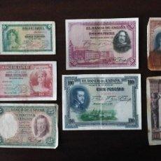 Monedas República: LOTE BILLETES ÉPOCA ALFONSO XIII Y REPÚBLICA.. Lote 84114884