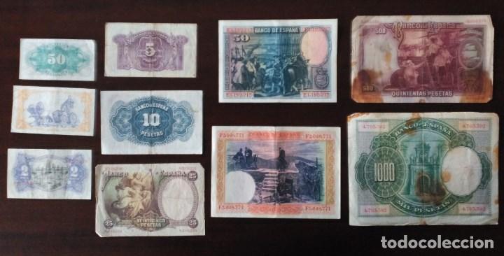 Monedas República: LOTE BILLETES ÉPOCA ALFONSO XIII Y REPÚBLICA. - Foto 2 - 84114884