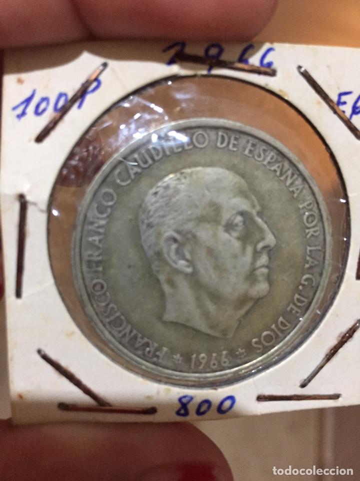 Monedas República: Moneda 100 pesetas 1966 - Foto 2 - 87241888
