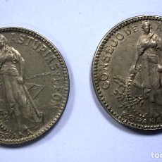 Monedas República: 2 VARIANTES 2 PESETAS CONSEJO ASTURIAS Y LEON 1937. VER FOTOS. Lote 87428524