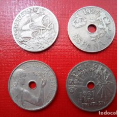 Monedas República: 4 MONEDAS DE 1925, 1927, 1934 Y 1937. Lote 89068796