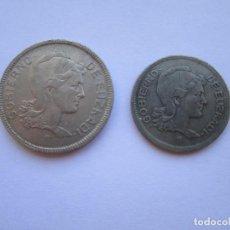 Monedas República: REPUBLICA ESPAÑOLA * 1 Y 2 PESETAS 1937 * GOBIERNO DE EUZKADI. Lote 90169536