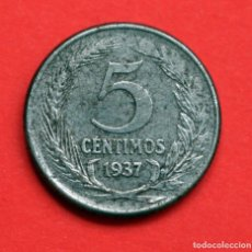 Monedas República: 5 CENTIMOS DE PESETA 1937 II REPUBLICA. Lote 90468339