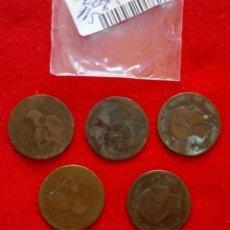 Monedas República: BUEN LOTE DE MONEDAS DE 10 CENTIMOS DE COBRE DE VARIOS AÑOS. Lote 92249635