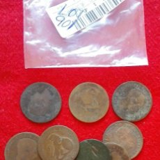 Monedas República: LOTE DE 10 MONEDAS DE 5 CENTIMOS DE COBRE - BUEN ESTADO - VARIOS AÑOS. Lote 175324645