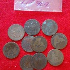 Monedas República: LOTE DE 10 MONEDAS DE 5 CENTIMOS DE COBRE - BUEN ESTADO - VARIOS AÑOS. Lote 92252375