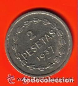 Monedas República: 2 PESETAS EUZKADI - II REPUBLICA ESPAÑOLA 1937 EBC - Foto 2 - 93904080