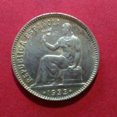 Monedas República: II REPÚBLICA. 1 PESETA DE 1933. MBC+ MUY BELLA.. Lote 93927758