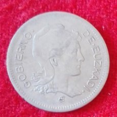 Monedas República: MONEDA DE ESPAÑA - 1 PESETA DEL AÑO 1937 - GOBIERNO DE EUZCADI. Lote 94011080