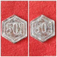 Monedas República: MONEDA LOCAL 50 CENTIMOS REPUBLICA ESPAÑOLA 1931 - 1937 LEÓN. Lote 96949395