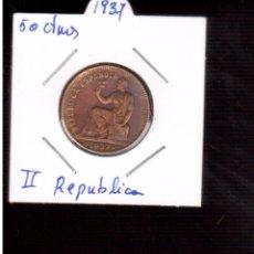 Monedas República: MONEDAS DE ESPAÑA REPUBLICA 50 CTMOS 1937. Lote 98153803
