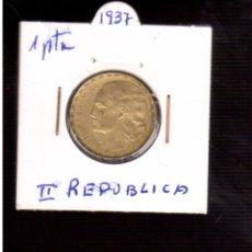 Monedas República: MONEDAS DE ESPAÑA REPUBLICA ------1 PESETA DE 1937. Lote 98154303