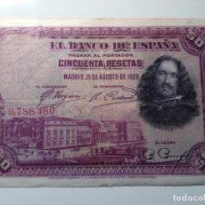 BILLETE 50 PESETAS 1928 SIN SERIE