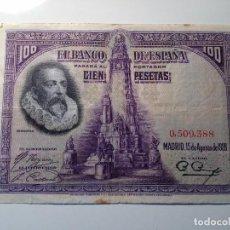 Monedas República: BILLETE 100 PESETAS 1928 SIN SERIE . Lote 98955403