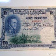 BILLETE 100 PESETAS 1925 SIN SERIE