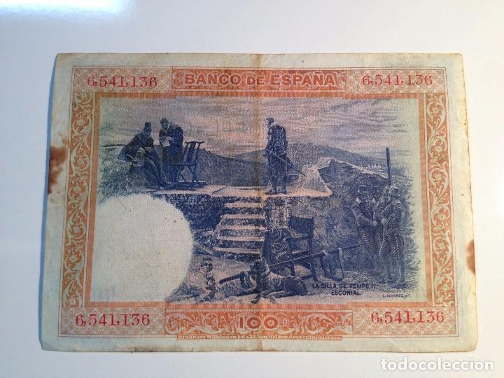 Monedas República: BILLETE 100 PESETAS 1925 SIN SERIE - Foto 2 - 98955795