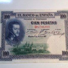 Monedas República: BILLETE 100 PESETAS 1925 EN BUEN ESTADO. Lote 98956255