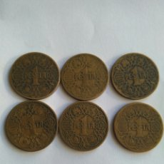 Monedas República: UNA PESETA DE 1944 AÑOS/LOTE DE 6 MONEDAS. Lote 103770500