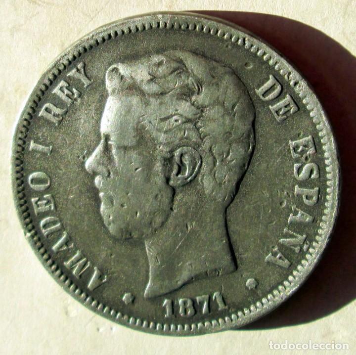 AMADEO I - 5 P . FALSAS DE EPOCA - RR (Numismática - España Modernas y Contemporáneas - República)