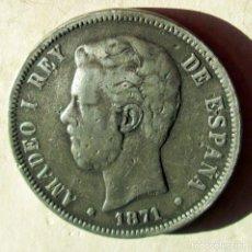 Monedas República: AMADEO I - 5 P . FALSAS DE EPOCA - RR. Lote 104764159