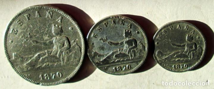 1ª REPUBLICA - 3 FALSAS DE EPOCA (Numismática - España Modernas y Contemporáneas - República)