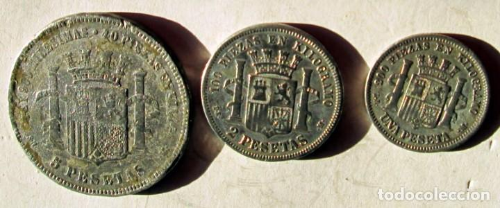 Monedas República: 1ª REPUBLICA - 3 FALSAS DE EPOCA - Foto 2 - 104764259