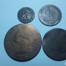 Monedas República: LOTE MONEDAS 1 REPUBLICA 1,2,5 Y 10 CENTIMOS. Lote 105795030