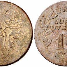 Monedas República: EMISIONES LOCALES. CAZALLA DE LA SIERRA (SEVILLA). 10 CÉNTIMOS. 3,09 G. EBC. Lote 106220647