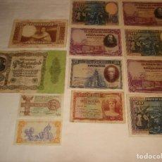 Monedas República: LOTE BILLETES DE LA RÉPUBLICA ESPAÑOLA. Lote 108674387