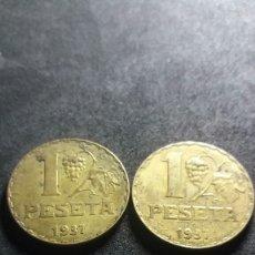 Monedas República: LOTE DE 2 MONEDAS 1 PTA 1937(LOT21). Lote 109183459