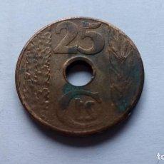 Monedas República: MONEDA 25 CTS, AÑO 1938, REPUBLICA ESPAÑOLA. Lote 109333927