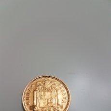 Monedas República: MONEDA DE UNA PESETA UNICA DORADA 1966. Lote 109352496