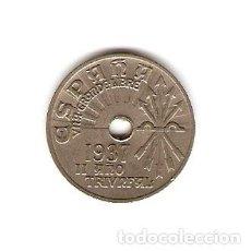 Monedas República: F13 - 25 CENTIMOS EMISION 1937 II AÑO TRIUNFAL. Lote 115161471
