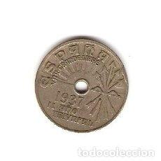 Monedas República: F14 - 25 CENTIMOS EMISION 1937 II AÑO TRIUNFAL. Lote 115161631