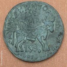 Monedas República: 1 PESETA DEL AYUNTAMIENTO DE MOGUER, 1936. Lote 115228759