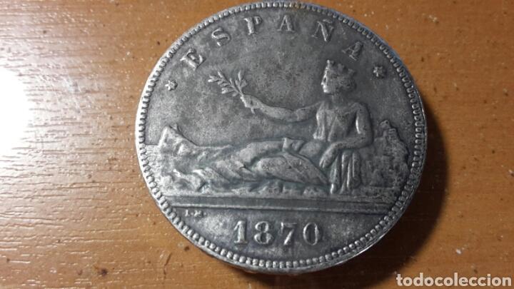 DURO 5 PESETAS 1870 FALSO (Numismática - España Modernas y Contemporáneas - República)