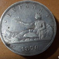 Monedas República: DURO SEVILLANO DE PLATA 1870. Lote 118000086
