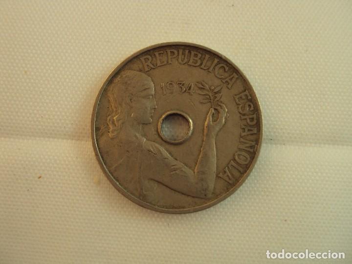 MONEDA DE 25 CENTIMOS. 1934. (Numismática - España Modernas y Contemporáneas - República)