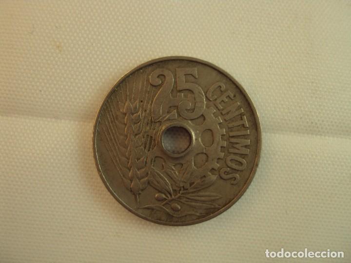 Monedas República: MONEDA DE 25 CENTIMOS. 1934. - Foto 2 - 118755759
