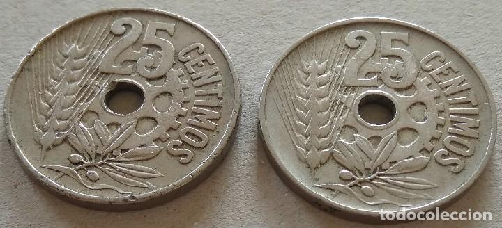 Münzen der Zweiten Republik: 2 monedas 25 céntimos 1934 República Española - Foto 4 - 119154055