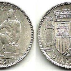 1 PESETA DE PLATA - 1933 (*3 *4) - II REPÚBLICA - SIN CIRCULAR.