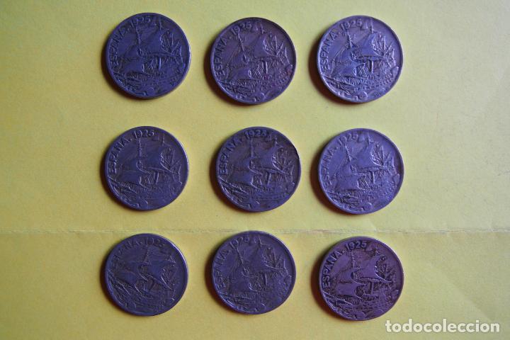 OFERTA. GANGA. LOTE 9 MONEDAS REPÚBLICA ESPAÑOLA 25 CÉNTIMOS. AÑO 1925. CARAVELA. VER FOTOGRAFIAS (Numismática - España Modernas y Contemporáneas - República)