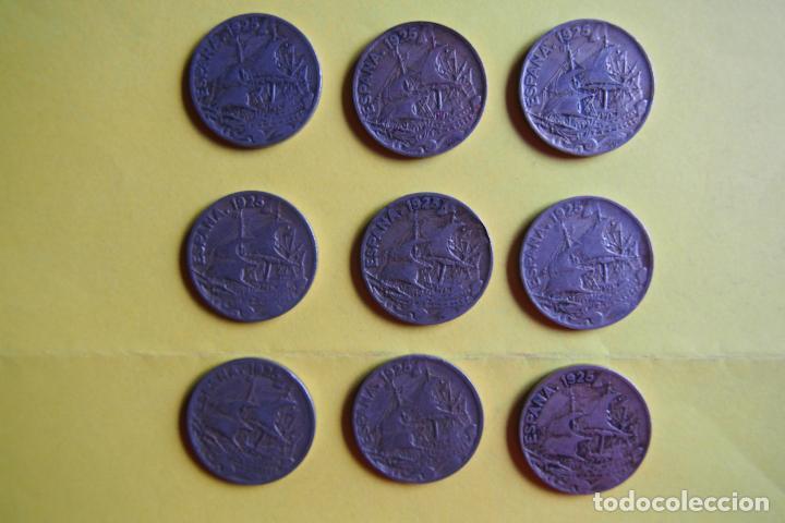 Monedas República: OFERTA. GANGA. LOTE 9 MONEDAS REPÚBLICA ESPAÑOLA 25 CÉNTIMOS. AÑO 1925. CARAVELA. VER FOTOGRAFIAS - Foto 2 - 119978759
