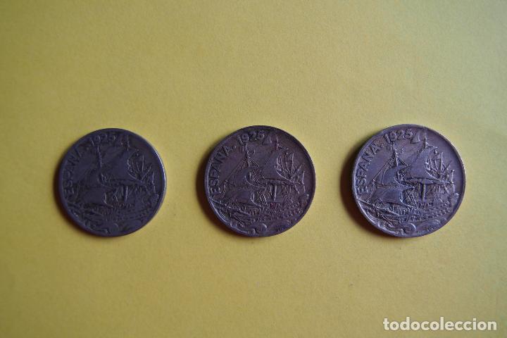 Monedas República: OFERTA. GANGA. LOTE 9 MONEDAS REPÚBLICA ESPAÑOLA 25 CÉNTIMOS. AÑO 1925. CARAVELA. VER FOTOGRAFIAS - Foto 3 - 119978759