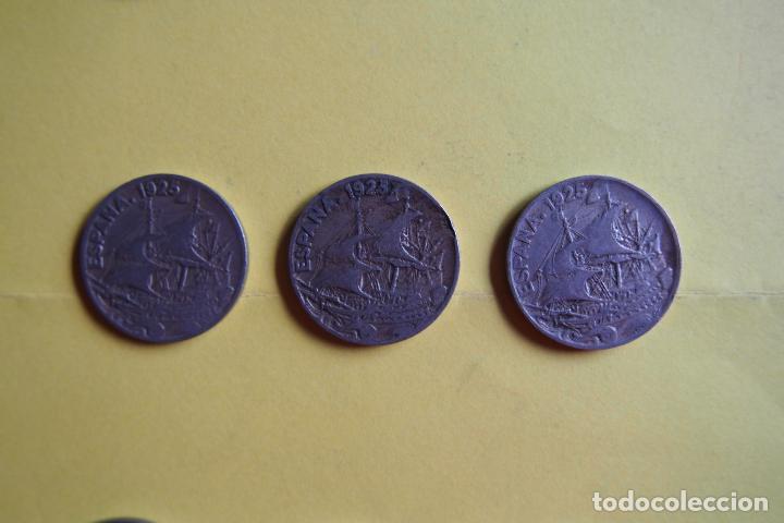 Monedas República: OFERTA. GANGA. LOTE 9 MONEDAS REPÚBLICA ESPAÑOLA 25 CÉNTIMOS. AÑO 1925. CARAVELA. VER FOTOGRAFIAS - Foto 4 - 119978759