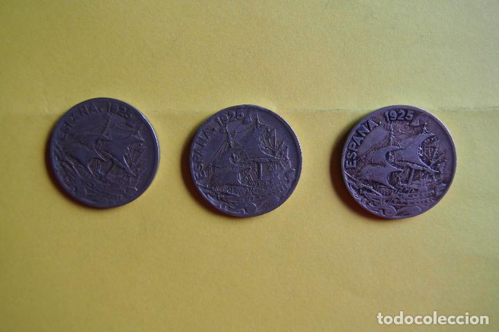 Monedas República: OFERTA. GANGA. LOTE 9 MONEDAS REPÚBLICA ESPAÑOLA 25 CÉNTIMOS. AÑO 1925. CARAVELA. VER FOTOGRAFIAS - Foto 5 - 119978759