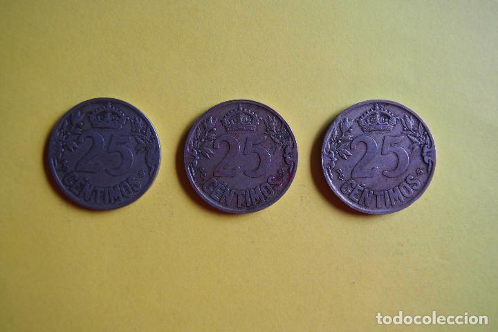 Monedas República: OFERTA. GANGA. LOTE 9 MONEDAS REPÚBLICA ESPAÑOLA 25 CÉNTIMOS. AÑO 1925. CARAVELA. VER FOTOGRAFIAS - Foto 7 - 119978759