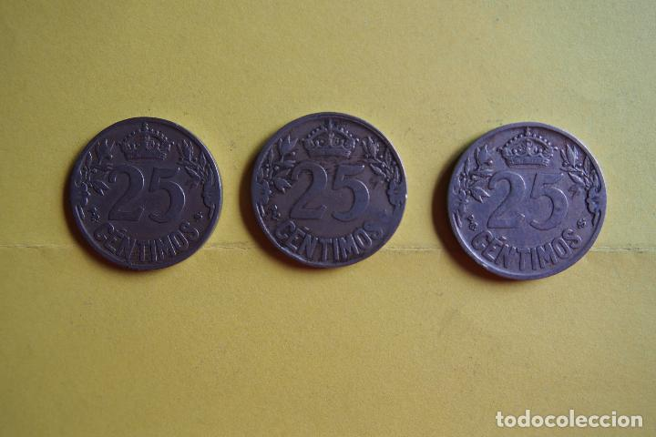Monedas República: OFERTA. GANGA. LOTE 9 MONEDAS REPÚBLICA ESPAÑOLA 25 CÉNTIMOS. AÑO 1925. CARAVELA. VER FOTOGRAFIAS - Foto 8 - 119978759