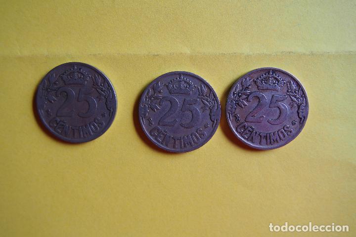 Monedas República: OFERTA. GANGA. LOTE 9 MONEDAS REPÚBLICA ESPAÑOLA 25 CÉNTIMOS. AÑO 1925. CARAVELA. VER FOTOGRAFIAS - Foto 9 - 119978759